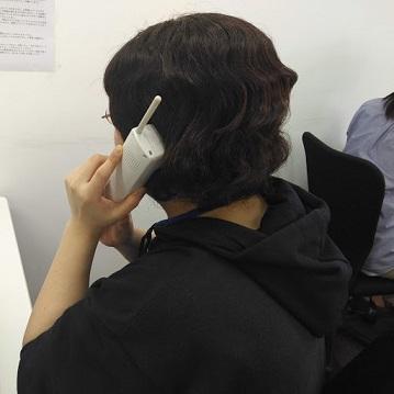 初めての電話対応に緊張でした。